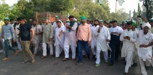 कृषि कानूनों के विरोध में किसानों का आंदोलन
